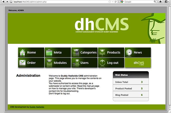 portfolio web freelancer website designer makes custom cms with php