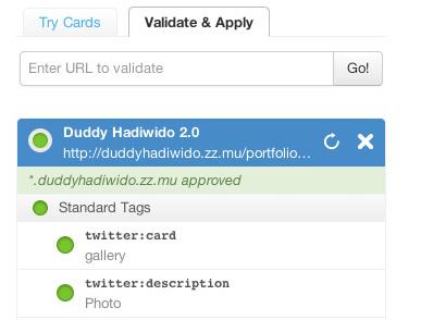 twitter card website development